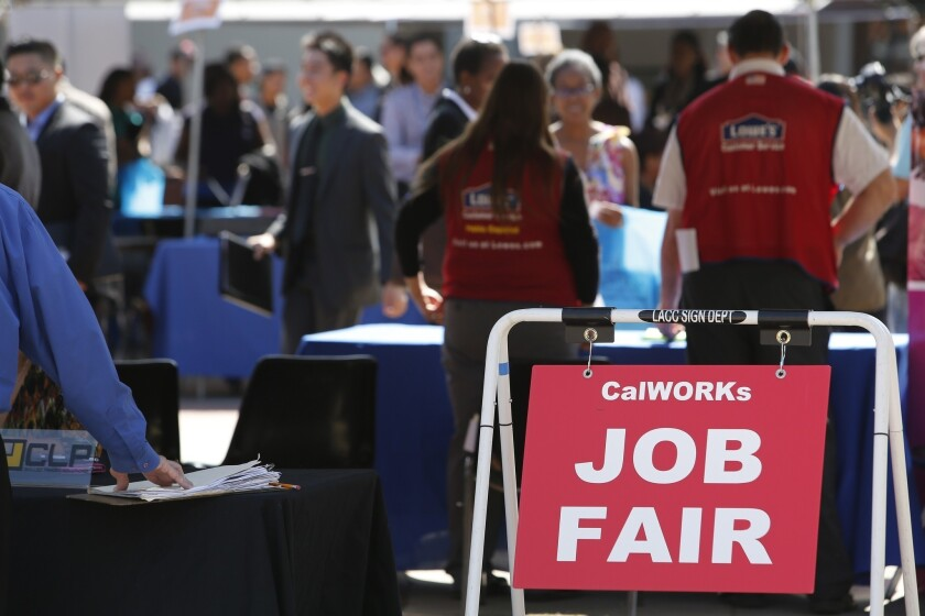 CalWORKs Job Fair signs