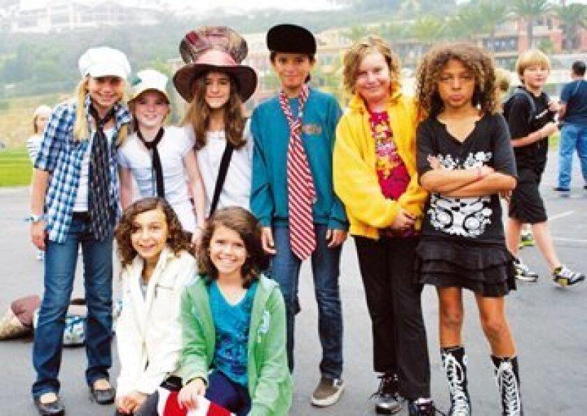 Julia Munson, Lilly Rice, Raquel Grosso, Emma Munoz, Mel Martin, Siena Larson; bottom, Sophia Sugarman, Lizzie Craig Photo: Sandra Munson
