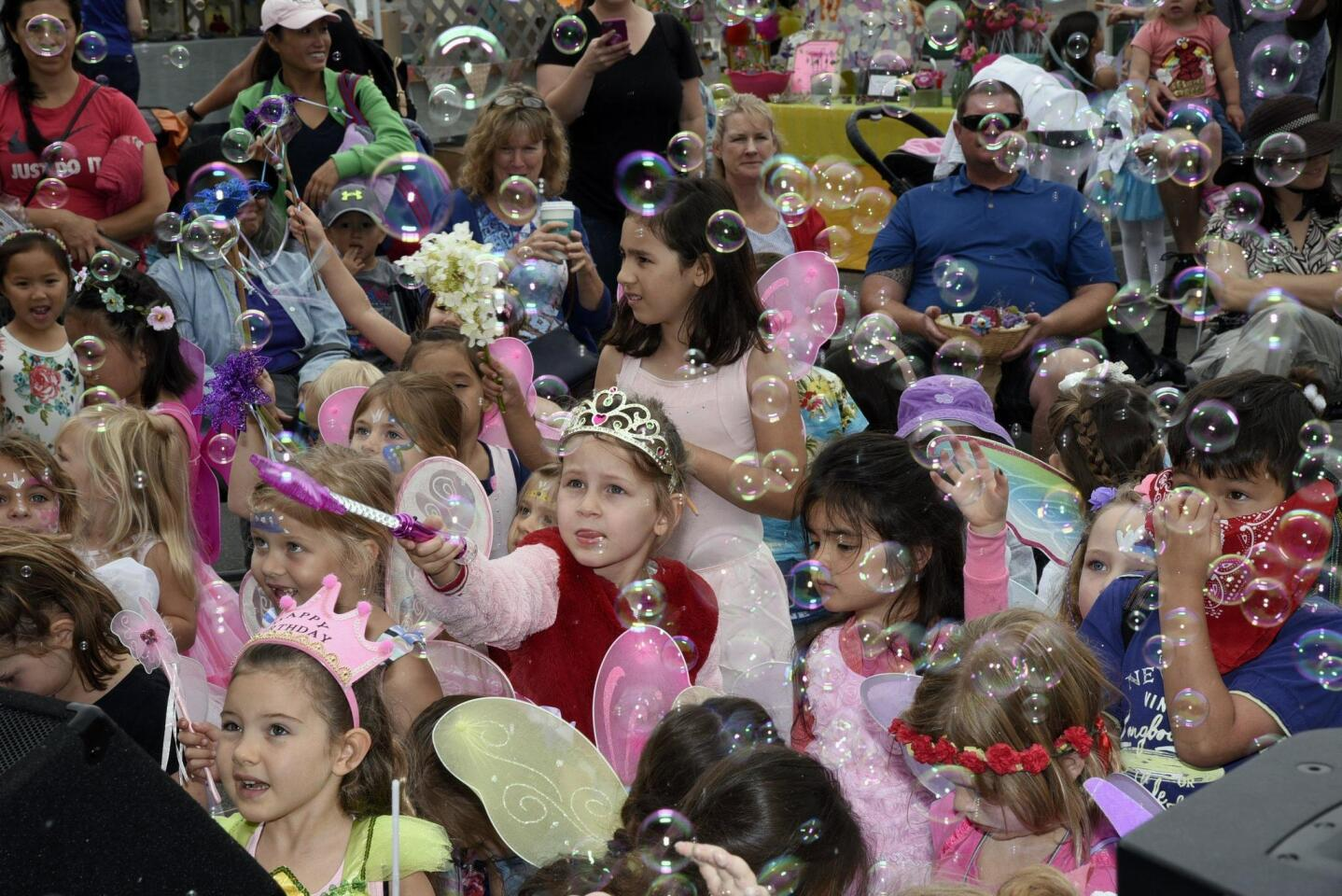 The bubble machine was popular