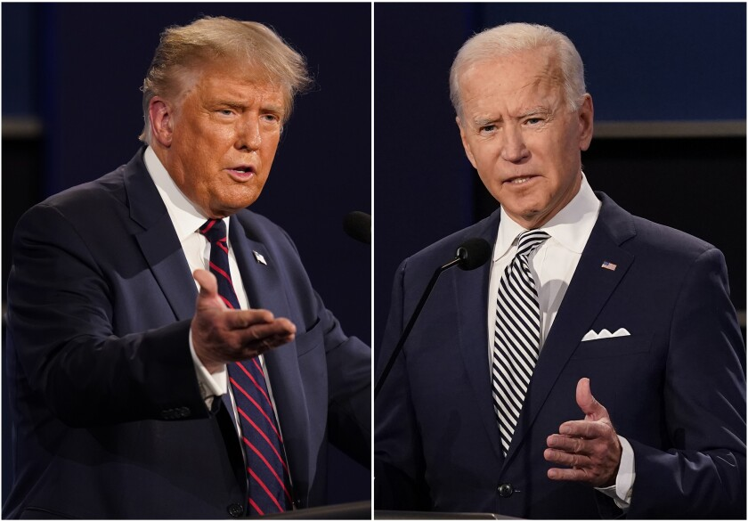 President Donald Trump and Democratic challenger, former vice president Joe Biden
