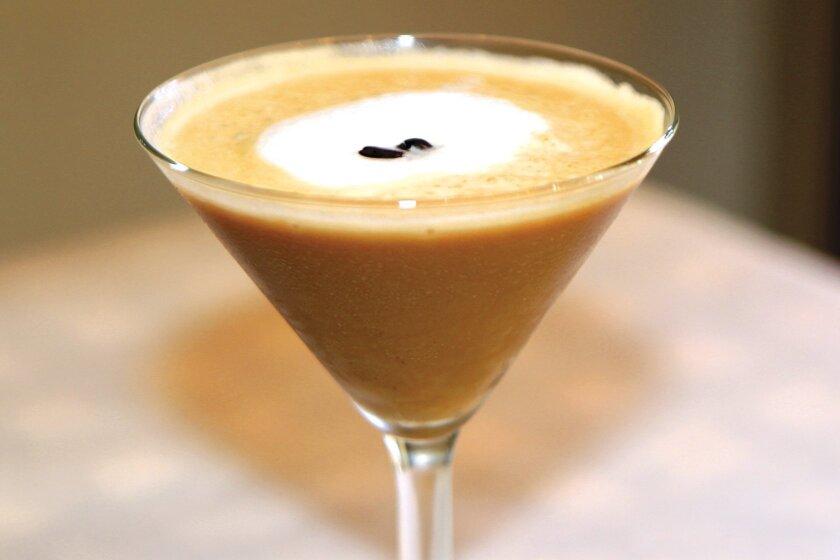 Espresso Martini is a sweet mixture of Kahlua, Absolut Raspberry Vodka, Baileys and espresso at Osteria Romantica in La Jolla. Photo by Daniel K. Lew