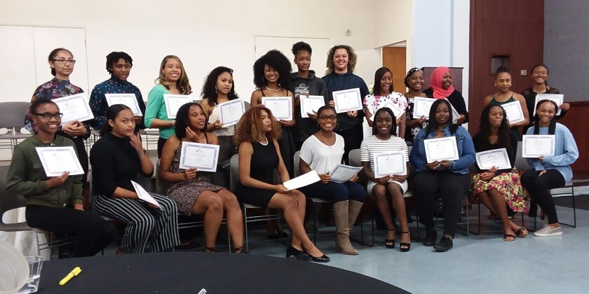 The North County African American Women's Association recently awarded $30,500 in scholarships to 35 high school and college students.