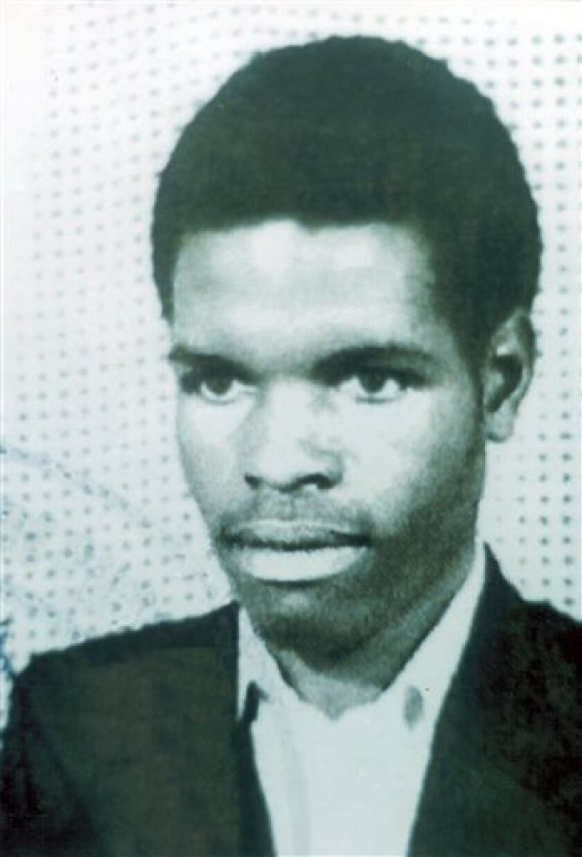 This undated photo provided by the U.S. Department of State shows Idelphonse Nizeyimana. Interpol agents have arrested Nizeyimana, one of the most wanted suspects in Rwanda's 1994 genocide, a former top intelligence official accused of sending soldiers to execute the Rwandan queen, officials said Tuesday, Oct. 6, 2009. (AP Photo/U.S. Department of State)