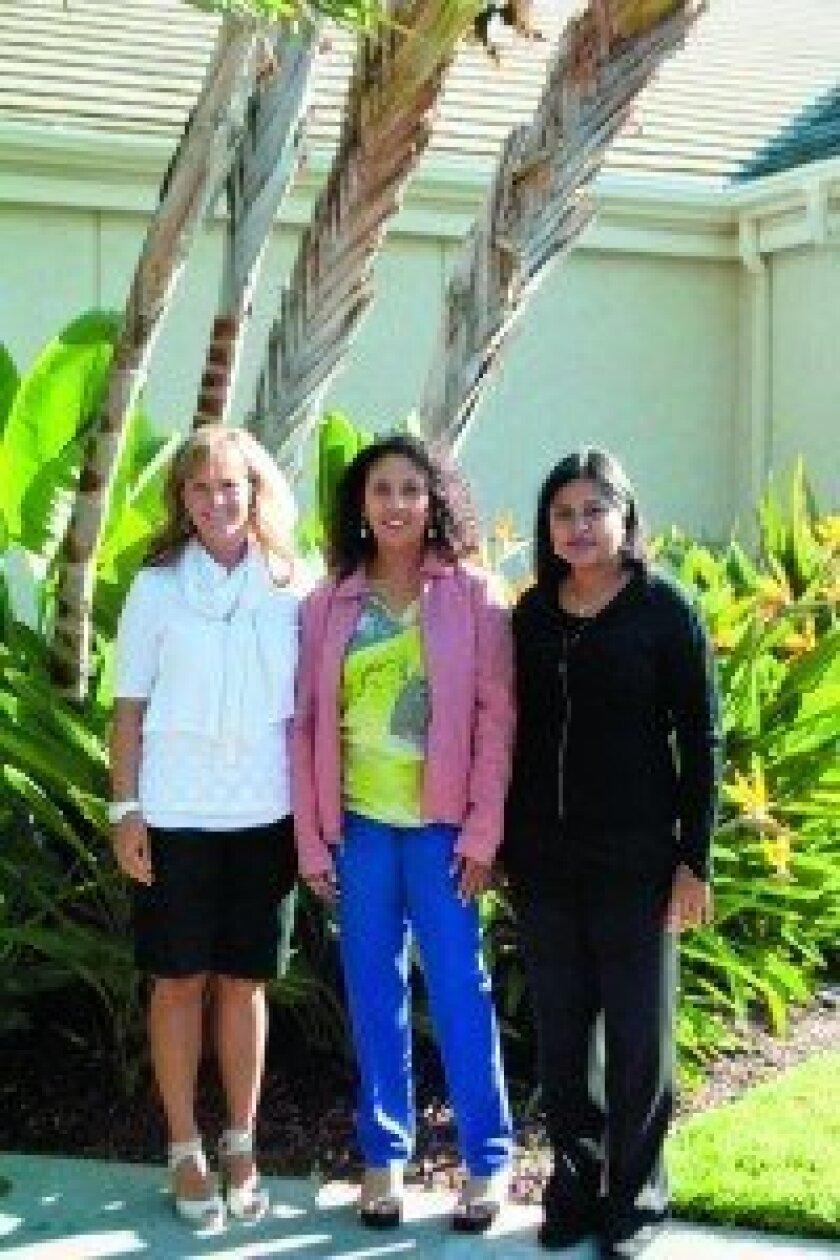 Blue Roses Girls founders Carol Fletcher, Jazel Peterzell and Srividya Ananthanarayanan.