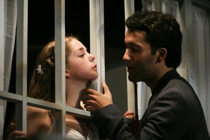 "Erin Petersen and Micahel Salimitari in ""Romeo & Juliet"""