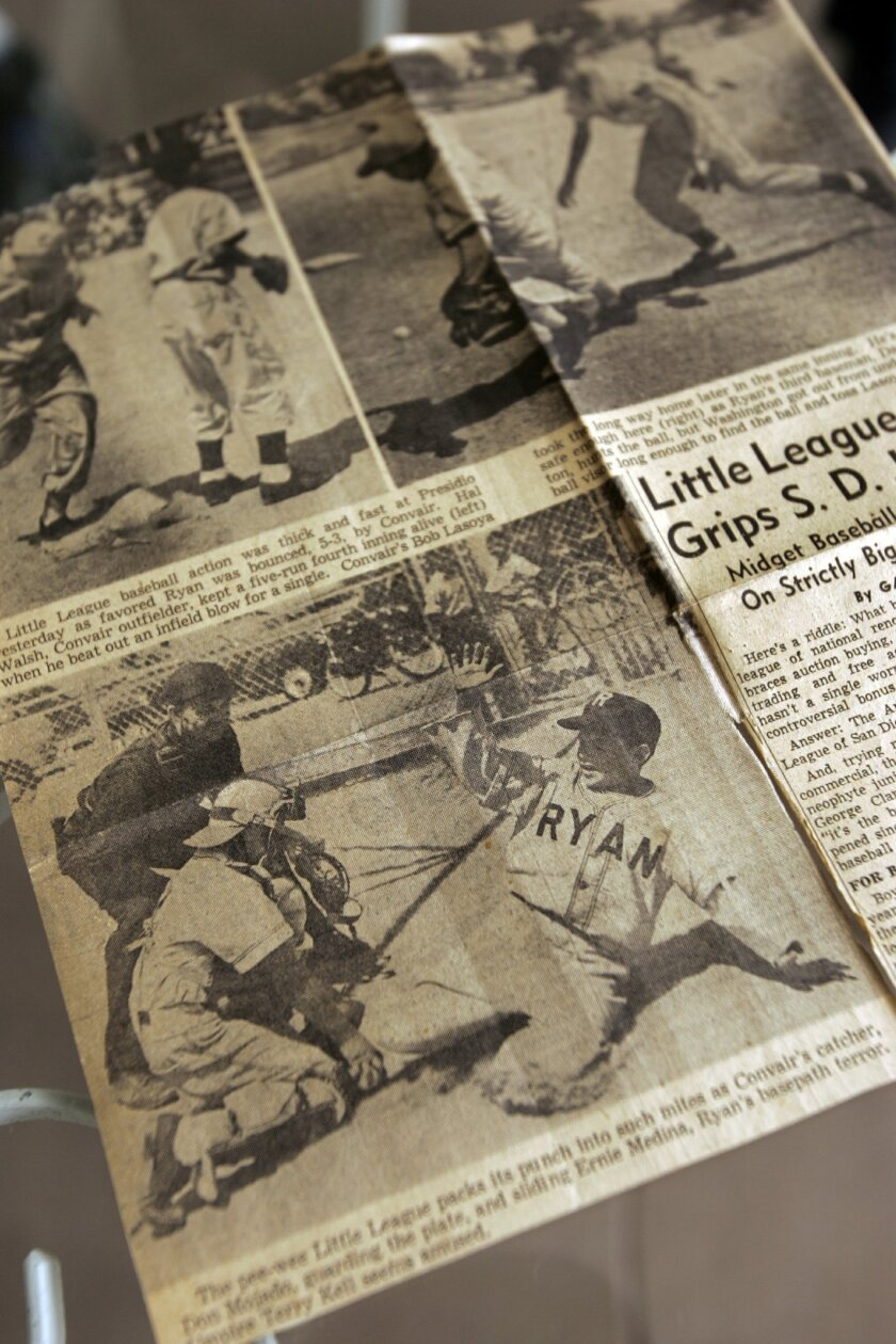 Clippings from the 1950 season. Little League made big news around the county when it was brought here 11 years after it was started back East in 1939.
