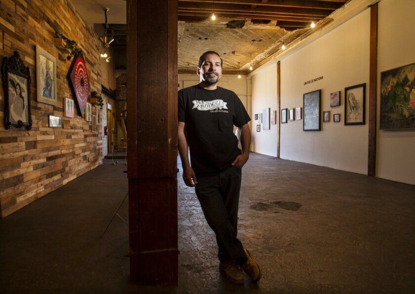 Chris Zertuche, owner of La Bodega Gallery and Studios in Barrio Logan, was previously part of the collective that ran the Spot Gallery on Main Street.