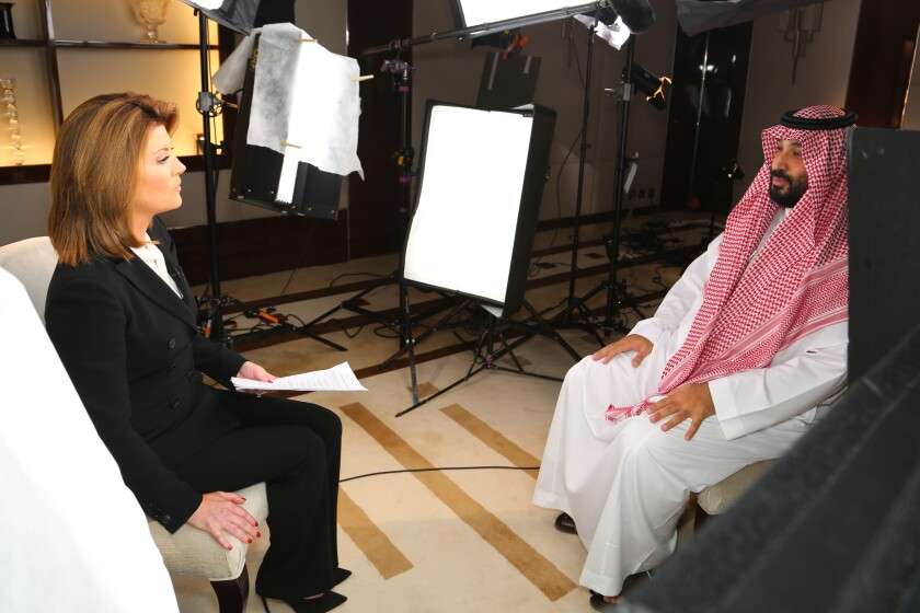 Norah O'Donnell interviews MbS