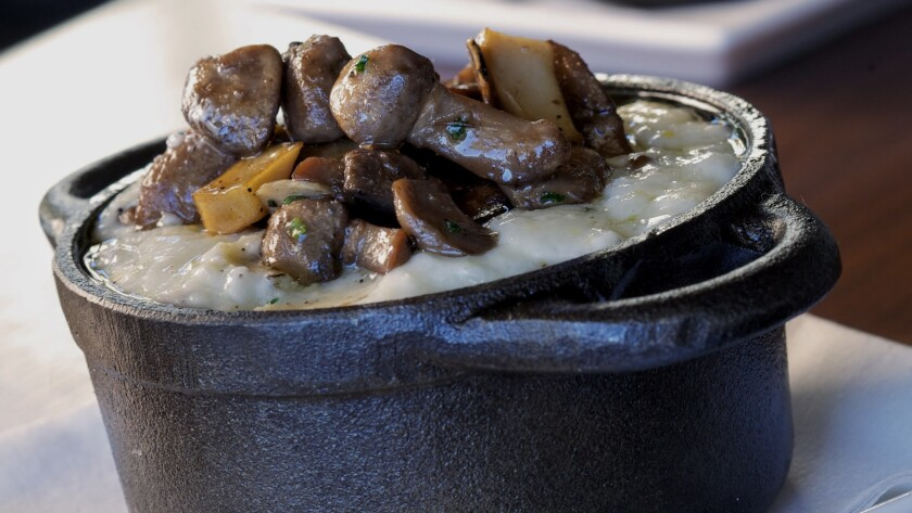 Mushroom grits will be among  the brunch offerings on New Year's Day at La Cave, a casual  restaurant at Wynn Las Vegas.