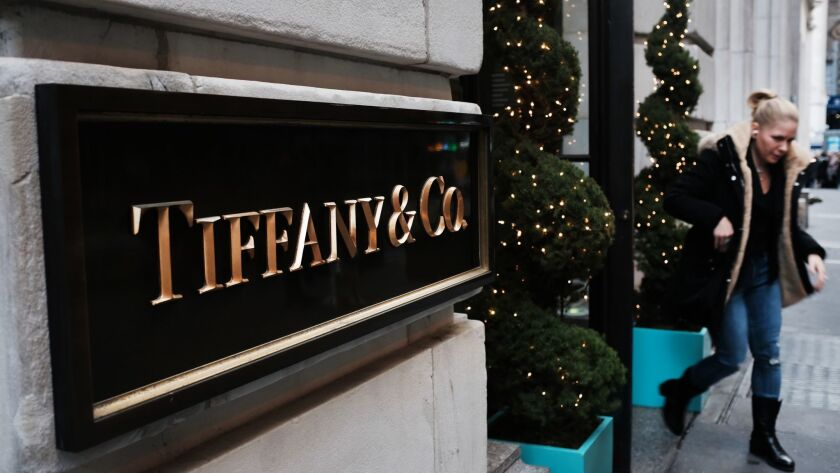 Tiffany & Co.'s lower Manhattan store is seen Dec. 4, 2018 in New York City. The luxury retailer reported Jan. 18, 2019, that its holiday sales were down.