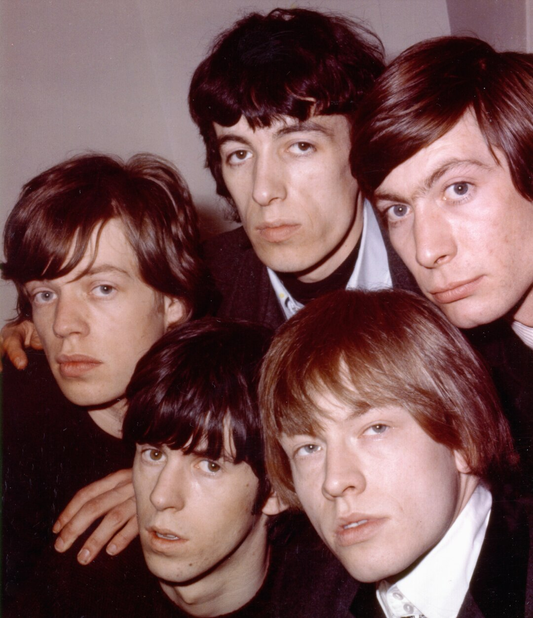 The Rolling Stones pose for a publicity photo in London circa 1965.