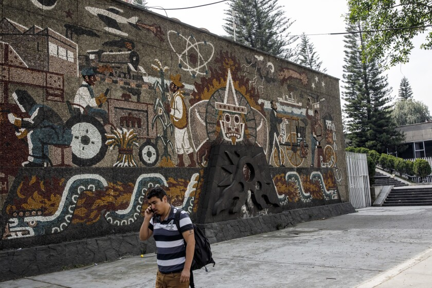 MEXICO CITY, FEDERAL DISTRICT -- MONDAY, DECEMBER 17, 2018: A view of the Centro SCOP murals at the