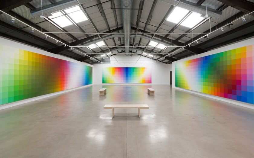 """""""Robert Swain: The Form of Color,"""" installation at Santa Monica Museum of Art"""