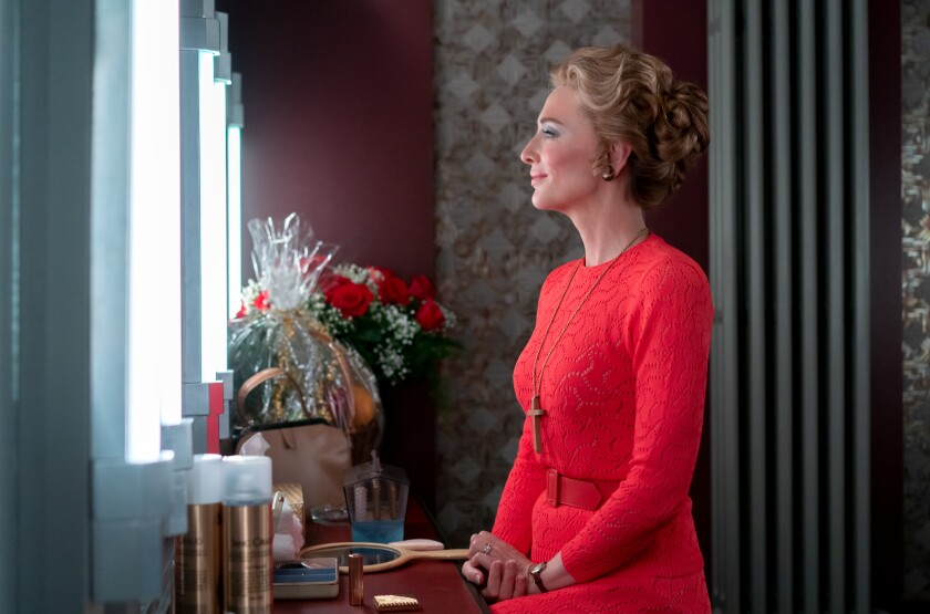 """Cate Blanchett as Phyllis Schlafly before the couples debate in """"Mrs. America."""""""