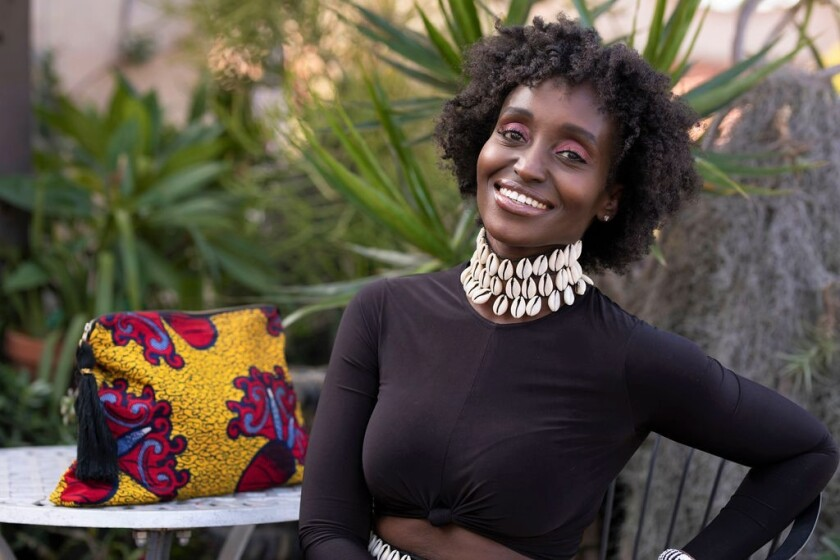 Nay Secka, founder of TEGAA clothing and accessories, based in San Diego.