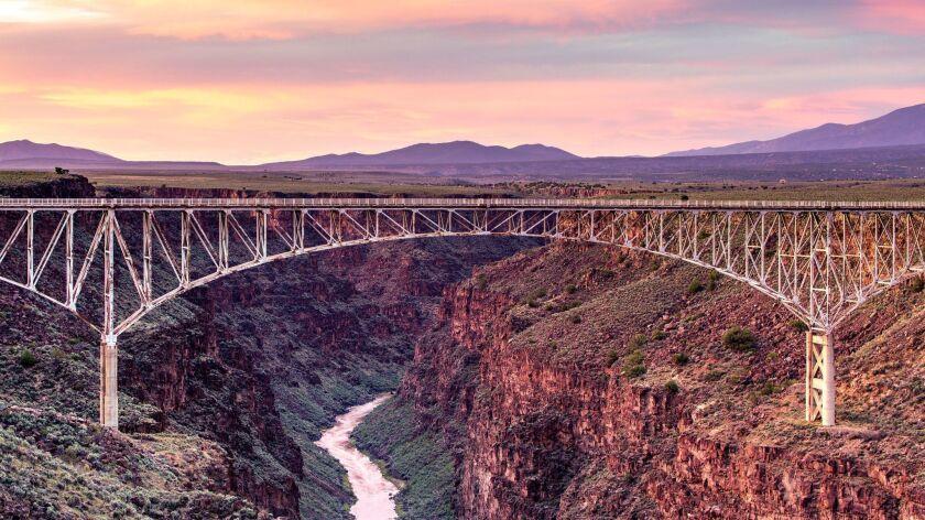 Rio Grande Gorge Bridge at Sunset