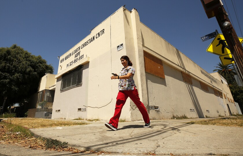 They paid $800 a month to live without water or power in an abandoned L.A. church
