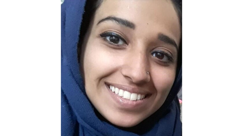 This undated image provided by attorney Hassan Shibly shows Hoda Muthana, an Alabama woman who left