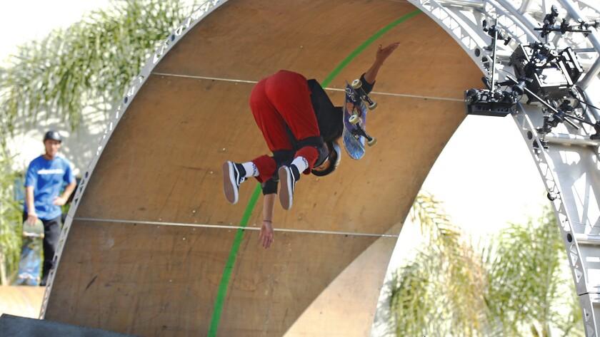 Three skaters master Tony Hawk's dangerous 360-degree loop - The San