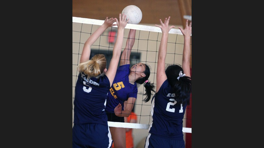 Photo Gallery: Holy Family vs. St. Monica Academy girls' volleyball