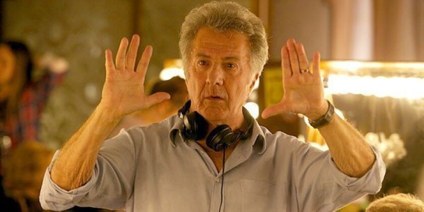 "Director Dustin Hoffman on the set of the ""Quartet."""