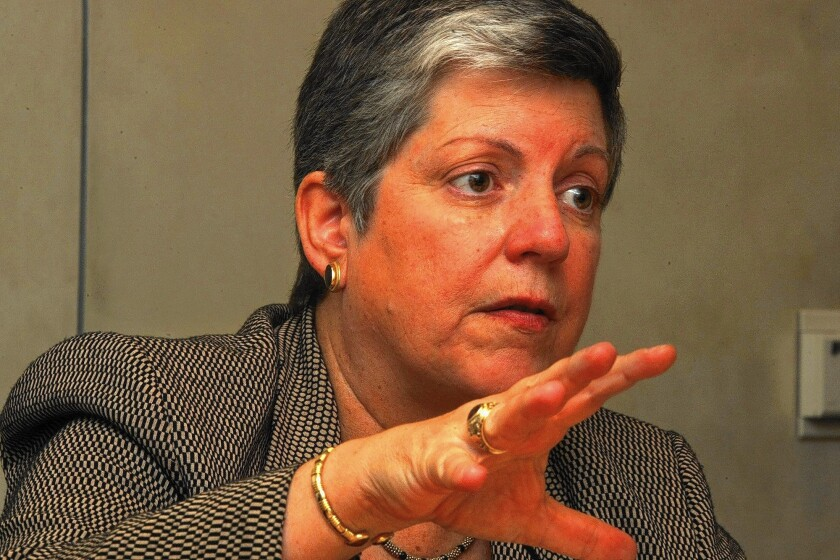 "In announcing a UC proposal to combat sexual misconduct on campus, UC President Janet Napolitano said, ""We will not tolerate sexual assault on our campuses."""