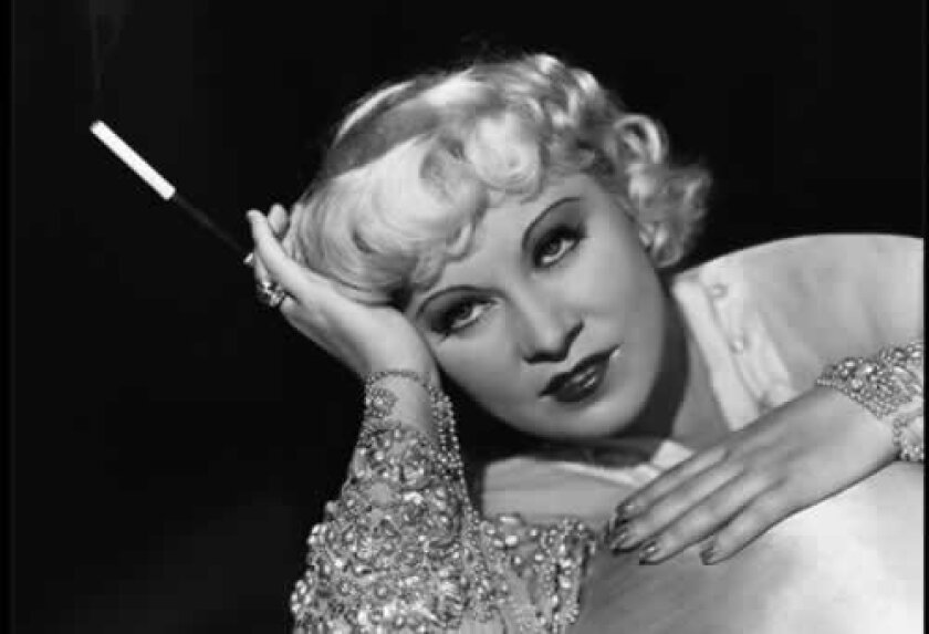 Mae West from her glory days. Courtesy