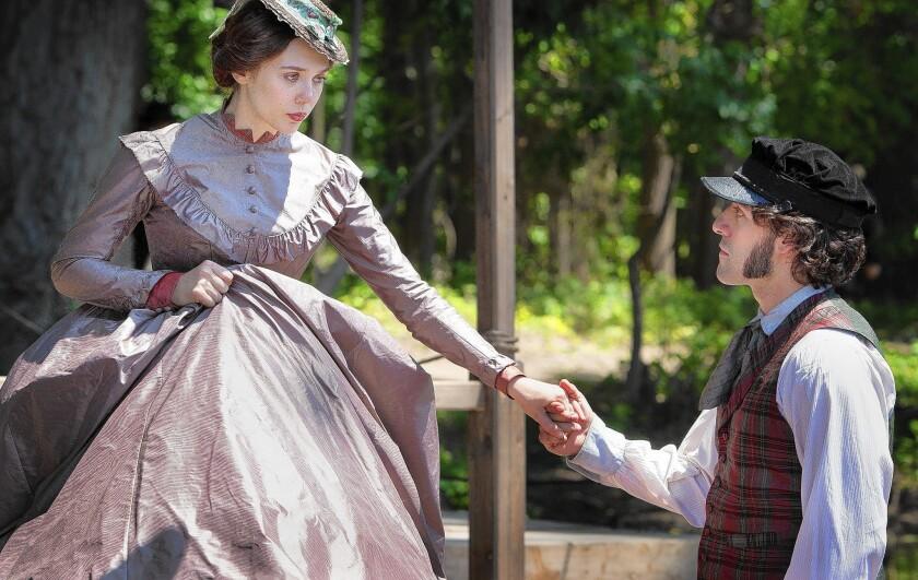 "Elizabeth Olsen and Oscar Isaac star in ""In Secret."""