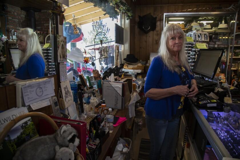 Pam Allen owner of Wooley's gift shop
