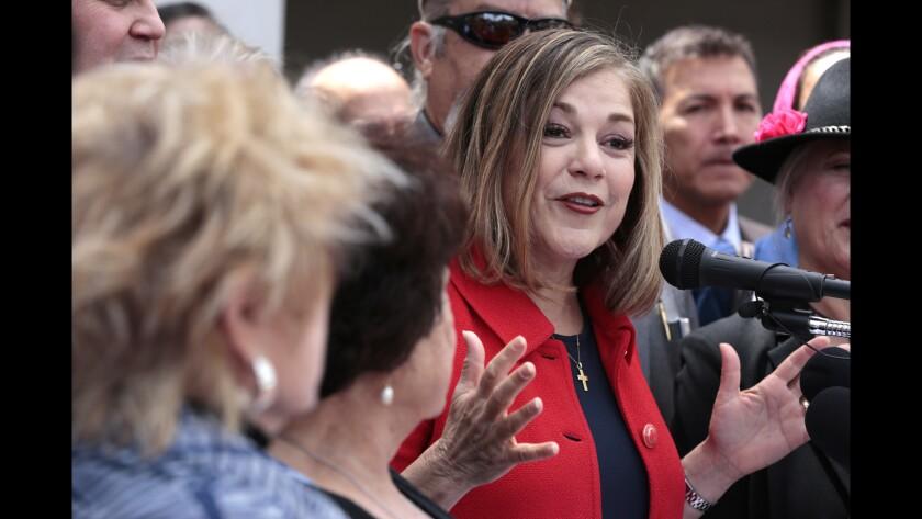 Rep. Loretta Sanchez announces that she is running for Barbara Boxer's seat in the U.S. Senate.