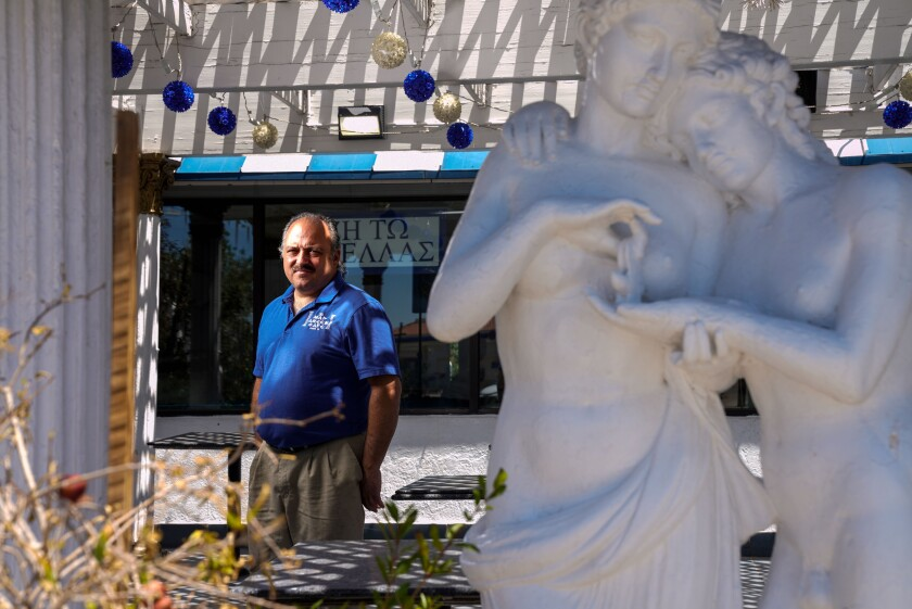Larry Dabour is owner of the Mad Greek Cafe in Baker, Calif.