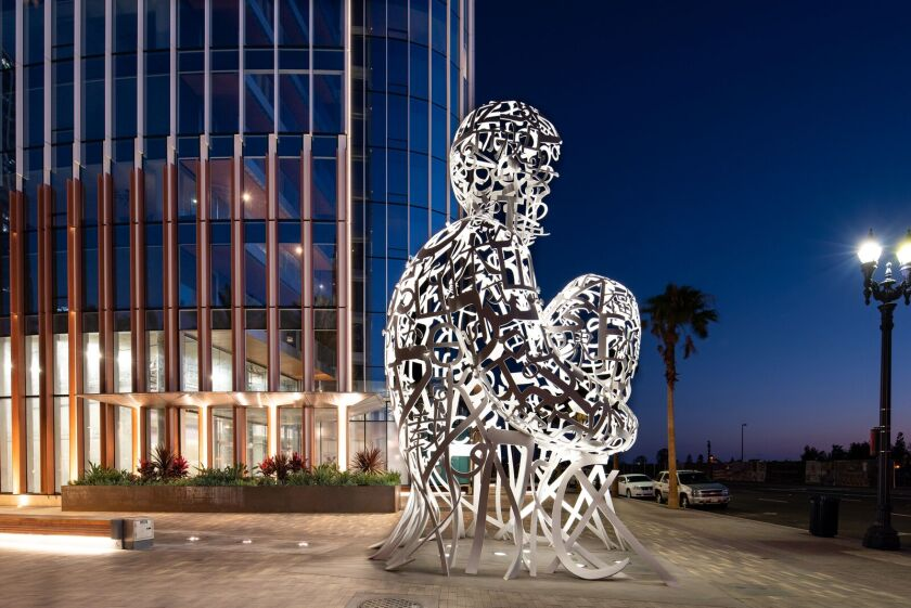 A photo of 'Pacific Soul' Sculpture by Jaume Plensa