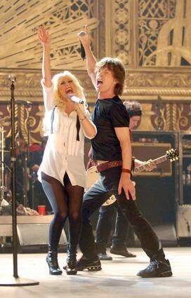 Christina Aguilera and Mick Jagger