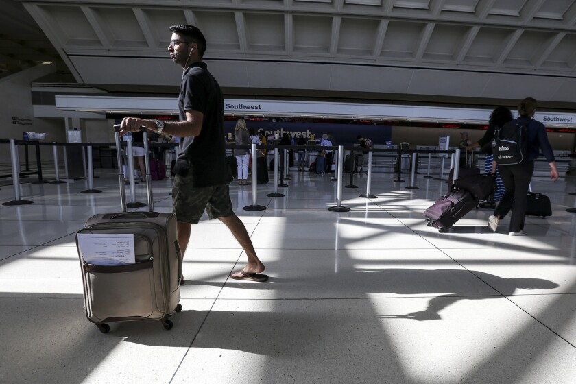 Some flights were delayed or canceled Wednesday morning after a power outage at Ontario International Airport.