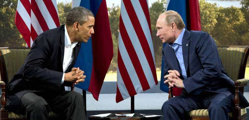 President Obama meets with Russian President Vladimir Putin in Enniskillen, Northern Ireland, site of the G-8 talks, where they discussed Syria.
