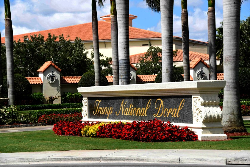 Editorial: Even under impeachment, Trump is still corruptly steering business to his properties