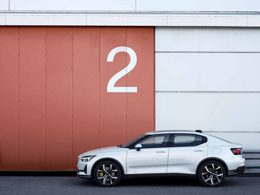 The Polestar 2 electric vehicle starts production in the first quarter of next year. This year's edition costs $63,000 and the car maker plans to eventually produce models for about $45,000, in an attempt to challenge the Tesla Model 3.
