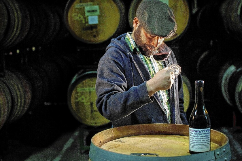 Kosher wine maker Gabriel Weiss is co-owner of Shirah Wine Co. in Santa Barbara County. The company has grown quickly in just a few years.