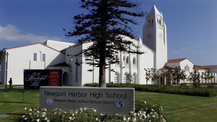 NEWPORT BEACH,CA., NOVEMBER 28, 2012: The campus of Newport Harbor High School in Newport Beach is