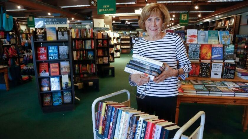 At the Bay Books store in Coronado, Barbara Chambers as been managing the book store for the past 27 years, however in the next month the store will be force to vacate their 4000 sq. ft. space to make way for future high end retailers.