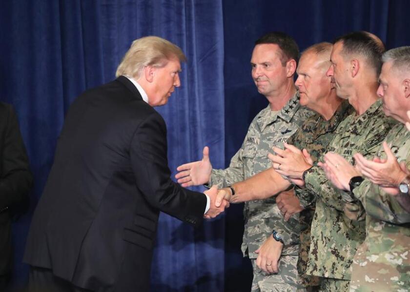 El presidente, Donald Trump, ha pedido al Pentágono que organice un desfile militar, el primero desde 1991, informó hoy la Casa Blanca. EFE/ARCHIVO/POOL