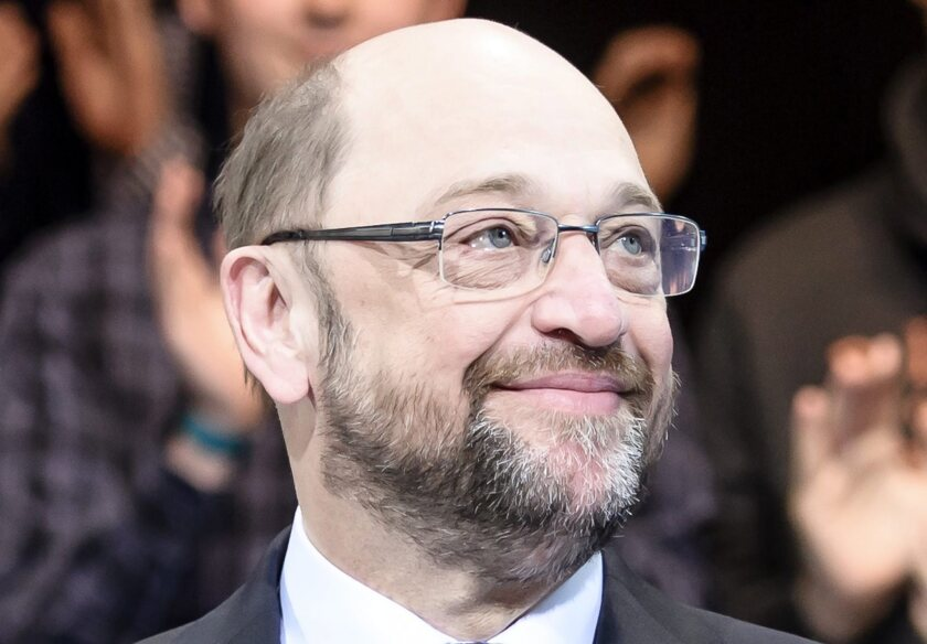 Martin Schulz at Social Democrats party chair meeting in Berlin
