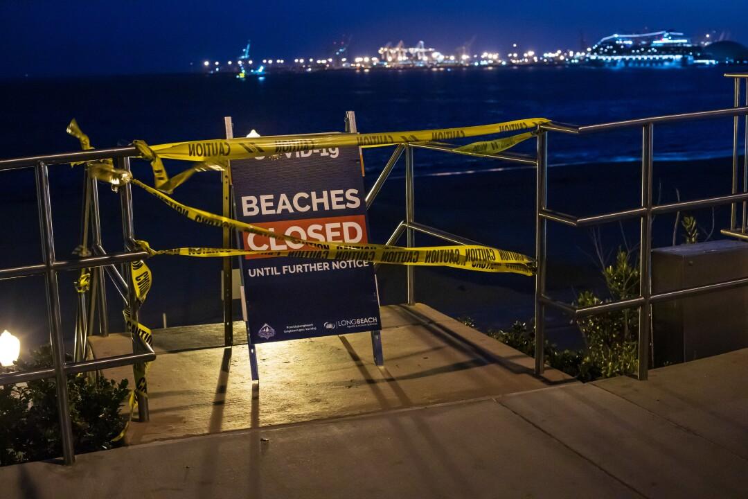 Beach closed in Long Beach