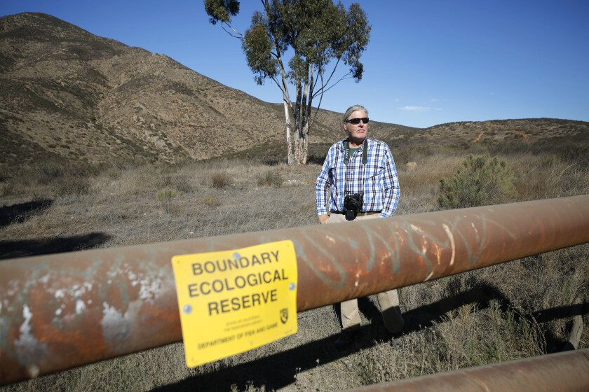 Biologist Robb Hamilton stands in the Rancho Jamul State Ecological Reserve