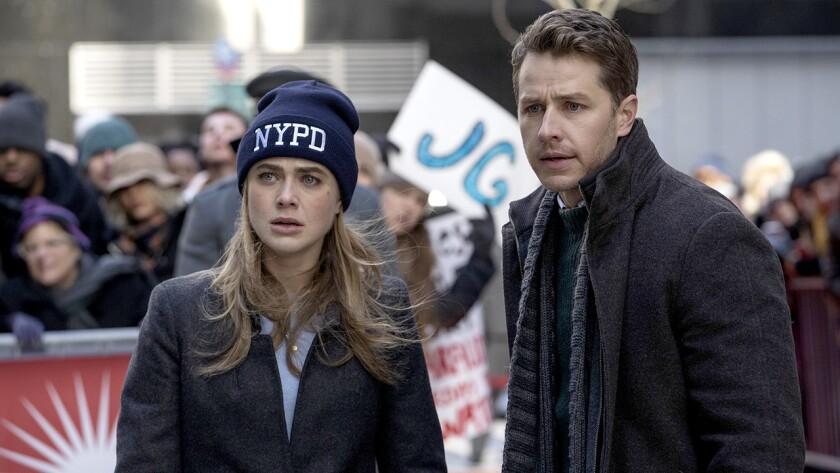 "Melissa Roxburgh and Josh Dallas in ""Manifest"" on NBC."
