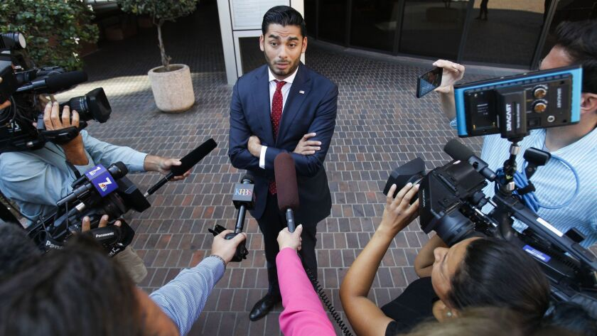 SAN DIEGO, August 23, 2018 | Ammar Campa-Najjar, the Democratic candidate running against Congressma