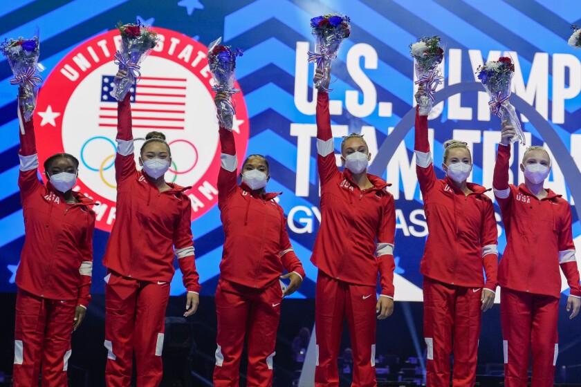 Simone Biles To Lead U S Women S Gymnastics Team At Olympics Los Angeles Times