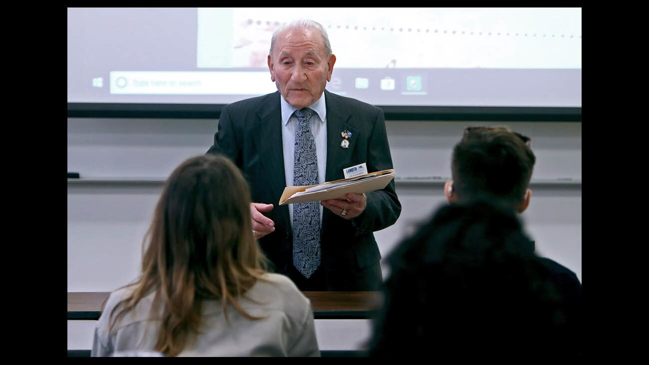 Photo Gallery: Riveting talk at Woodbury University by Holocaust survivor