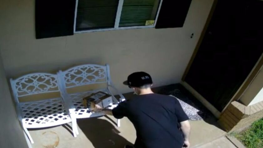 A man steals a package filled with dog droppings in Lodi.