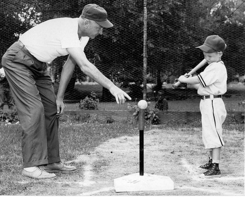 Jerry Sacharski devised rules that allowed a batter to hit the ball off an adjustable tee because he didn't like to turn away young children who wanted to play baseball.